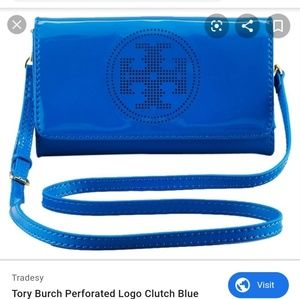 Tory burch patent leather clutch/crossbody